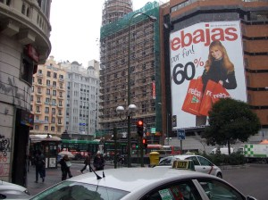 """rebajas"" or rebates at El Corte Inglés"